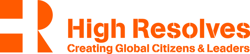 This is the preferred logo for audiences where the context of what High Resolves is/does is NOT understood or where the logo is stand-alone and needs to encapsulate what we do.For example,when used with other corporate logos or as a closing logo for student social action videos.