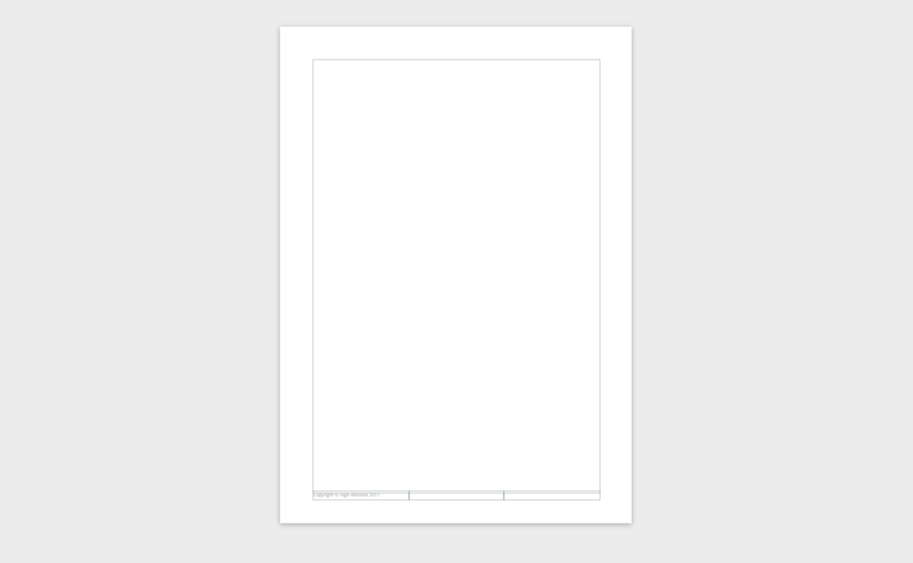White breathing space: wide margins and allow a decent border of background around the edge of all elements