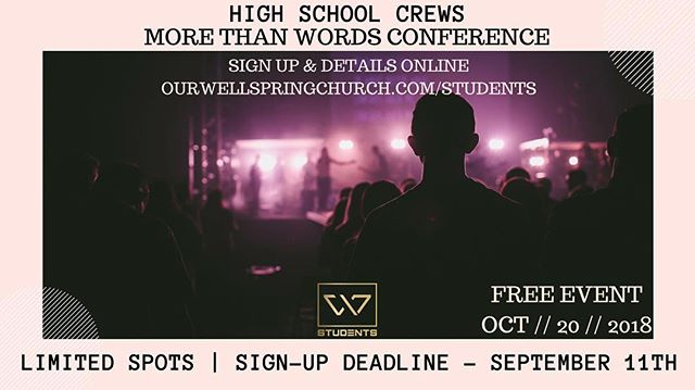 👀 GUESS WHAT? 👀 • • • • We where able to extend the deadline for ALL HIGH SCHOOLERS to attend this amazing conference! 🙌🏼 Some AMAZING people at More than words leadership team helped us out. Don't miss out on this opportunity go to Link I BIO for more information and to sign up! Did we mention it is FREE!?!?