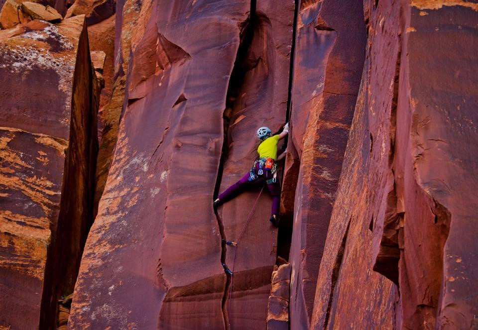 Gurley rock climbing