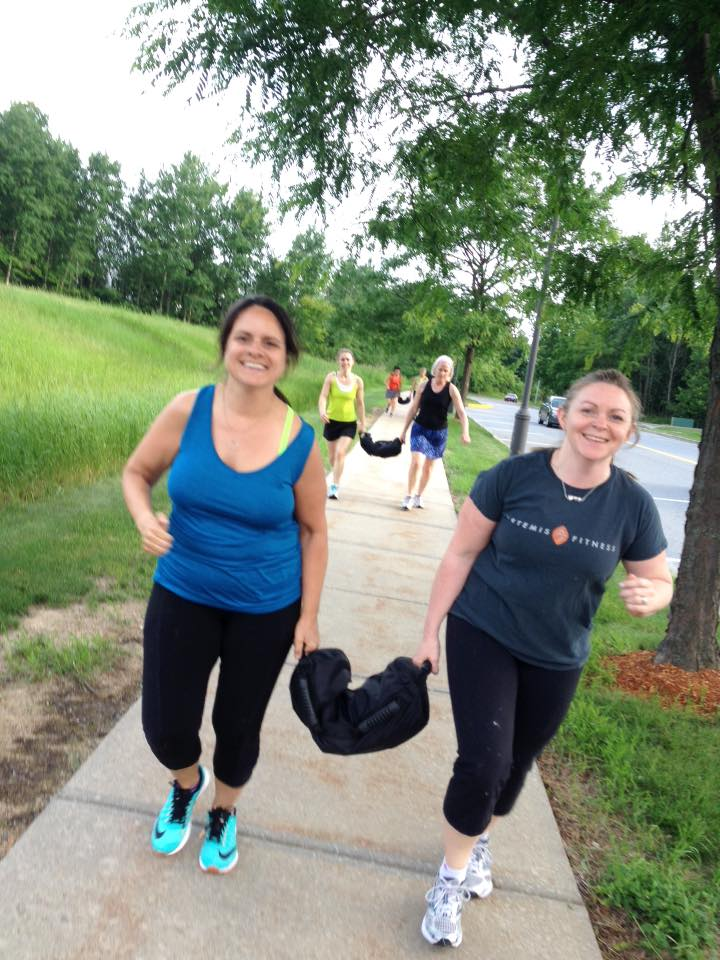 Maggie and Jen with sandbag.jpg