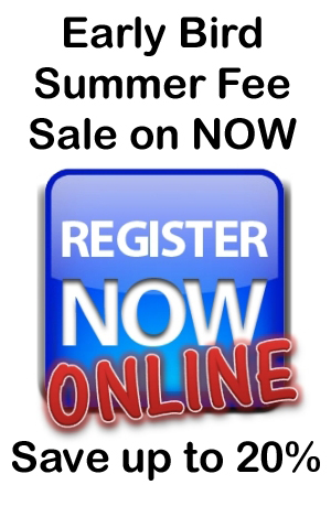 Early Bird Summer Fee Sale On Now !!