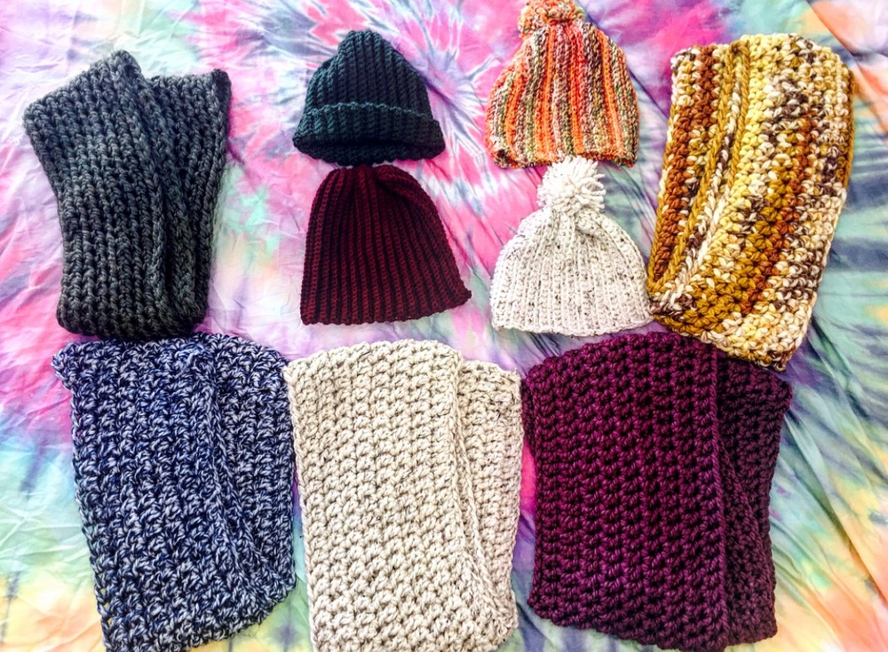 Adie's collection of Hats and Scarves can be found on Instagram: @adielu