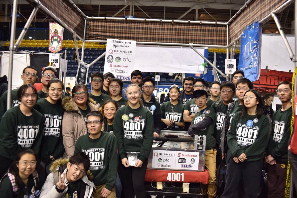 team 4001 rams robotics in their latest year of competition (2017) at the ryerson university district event