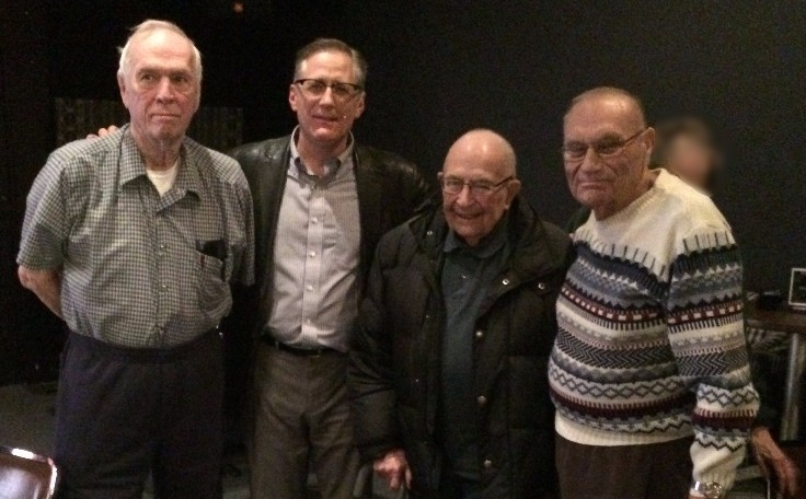 World War Two veterans with me in Rochester, NY after a performance.