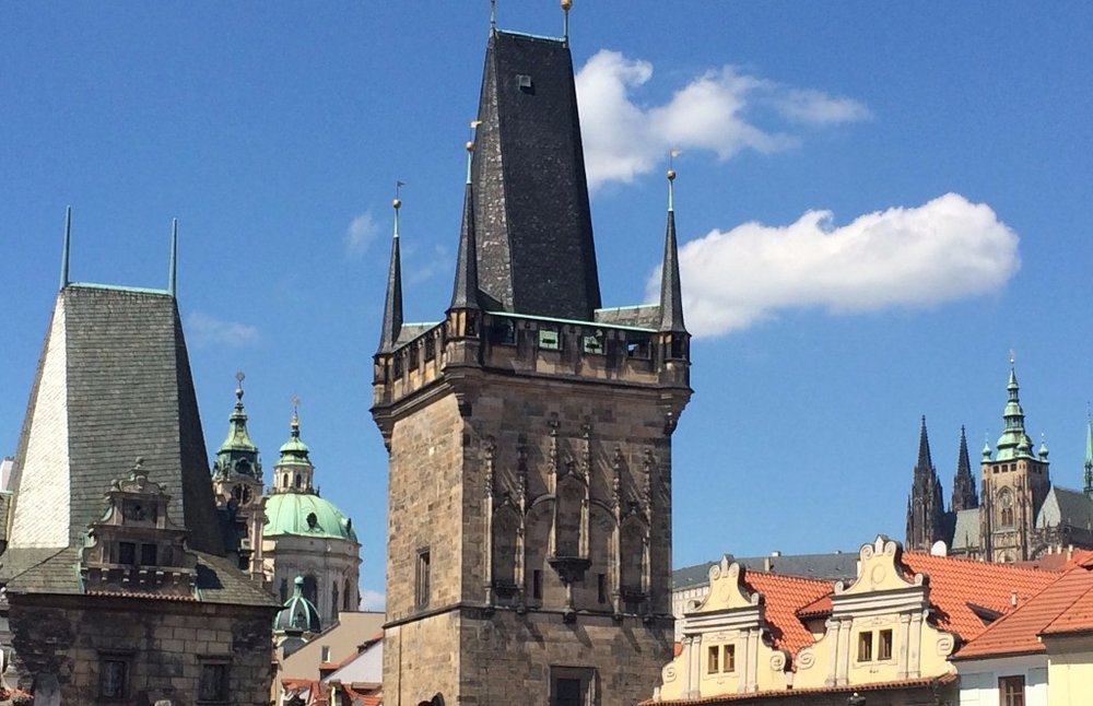 Spires of Prague from the Charles Bridge