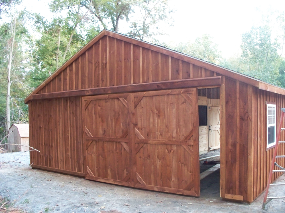 custom built horse barn