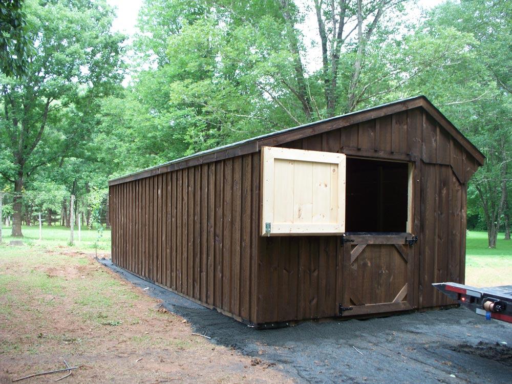 amish row barn for sale