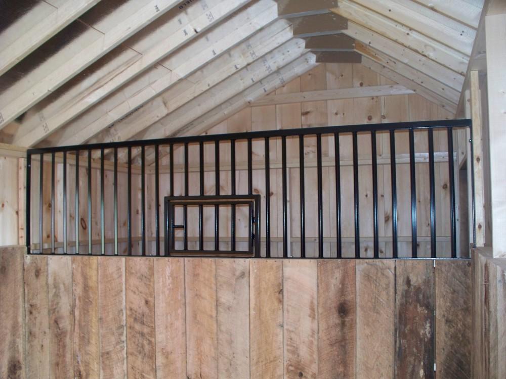 run-in horse stall