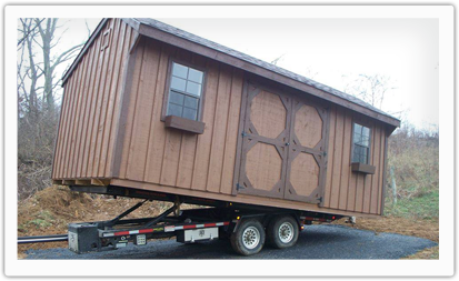 amish shed delivery