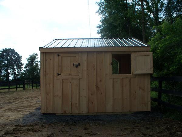 pre-built horse barn