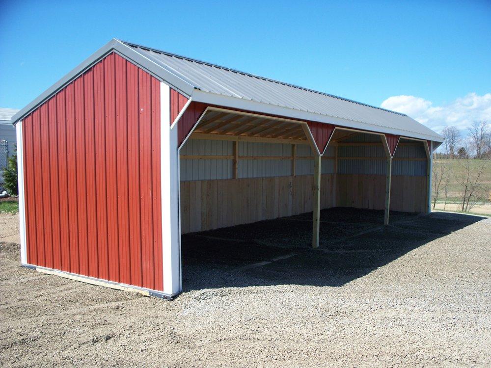 runin amish shed