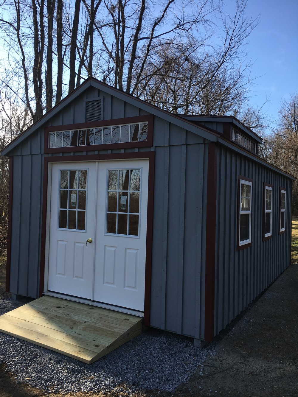 custom built aframe shenandoah sheds