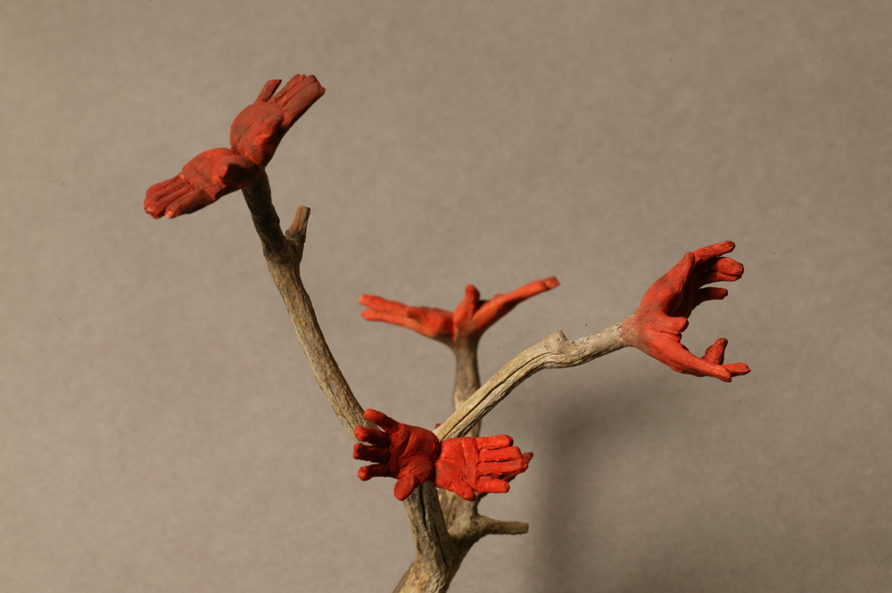 Branch with Hands (Detail).