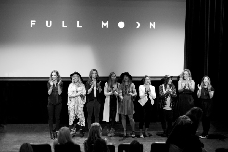 The ladies of Full Moon, starting the adventure of their film tour. Photo: Abby Cooper
