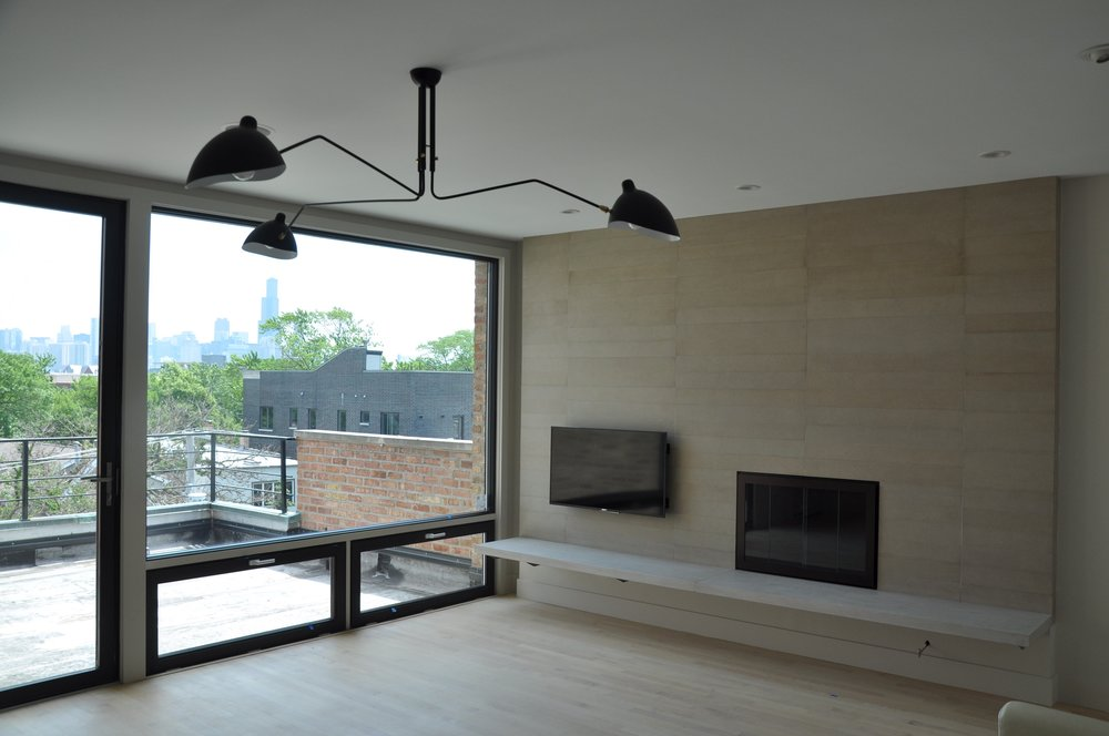 Wicker Park fireplace