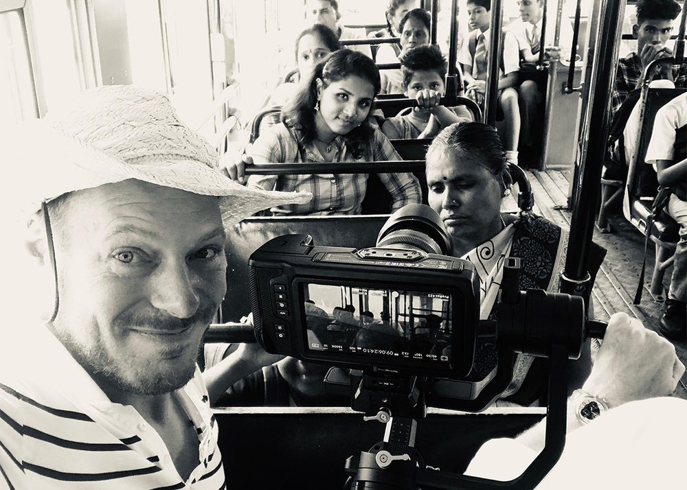 Filming on a bus in Mumbai. Before the commotion… Not to be repeated again in hurry..