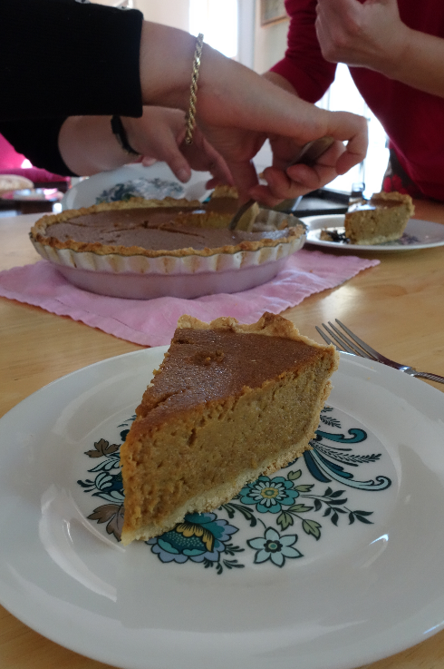 Necole's masterpiece—the best pumpkin pie I ever had. Period.