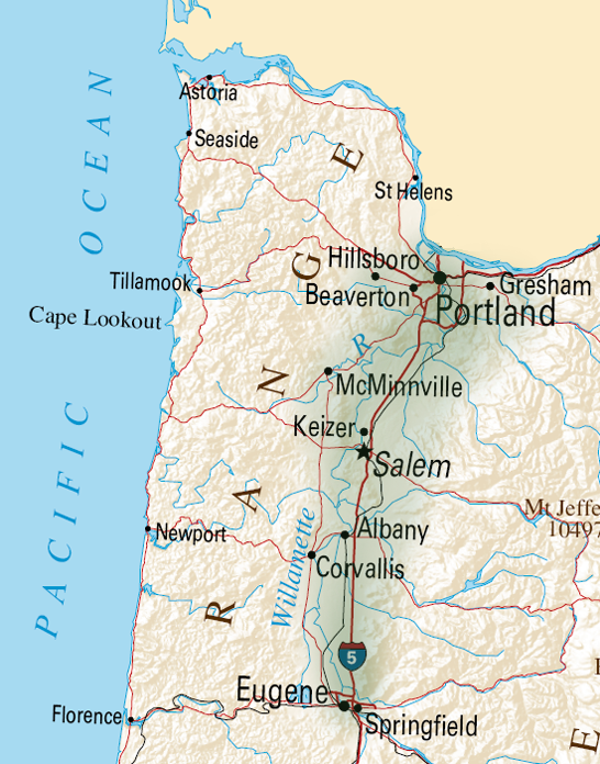 Willamette Valley – Oregon  image © CC BY-SA 3.0