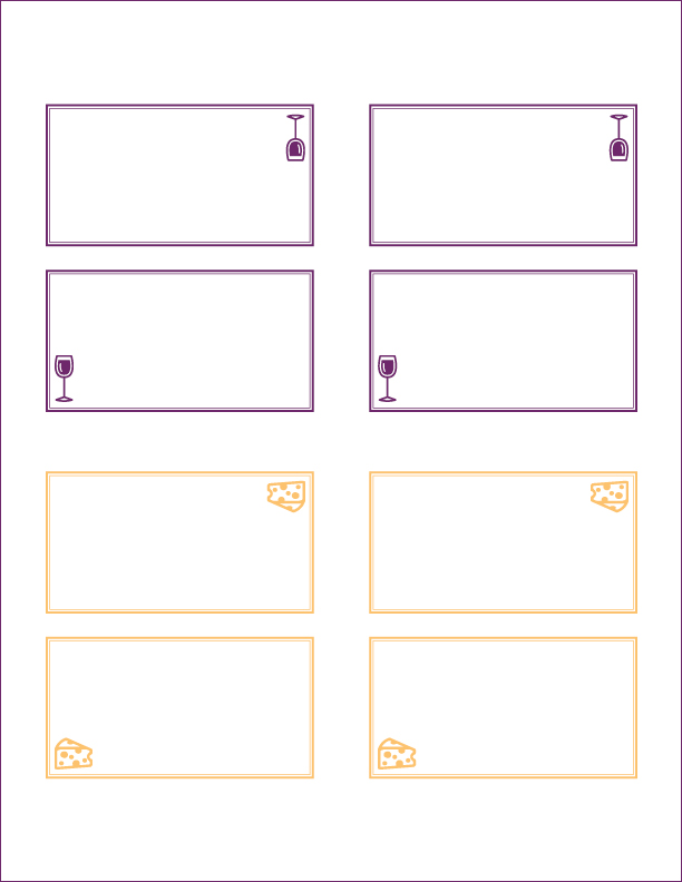 Click here to create your own label cards. Editable in Adobe Acrobat.