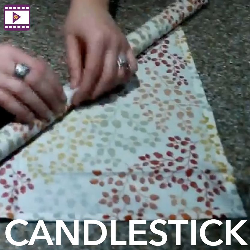 Napkin Fold: Candlestick