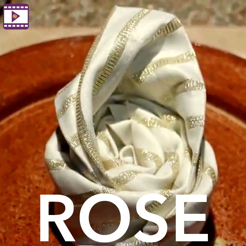 Napkin Fold: Rose