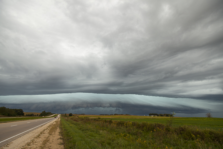Arcus Cloud - Looking west along Highway 20 south of Alden, Iowa, PHOTO by CRAIG JOHNSON