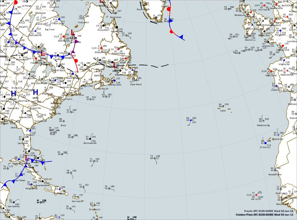 Map was plotted using Digital Atmosphere software available from Weather Graphics at www.weathergraphics.com.