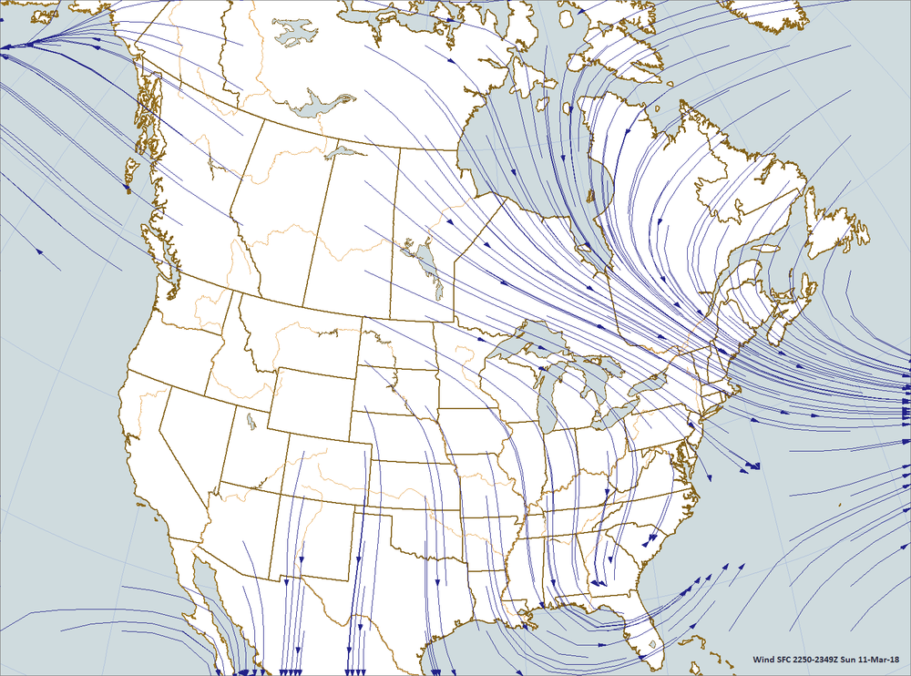 STREAMLINES PLOTTED BY dIGITAL aTMOSPHERE SOFTWARE AVAILABLE AT wEATHERgRAPHICS.COM