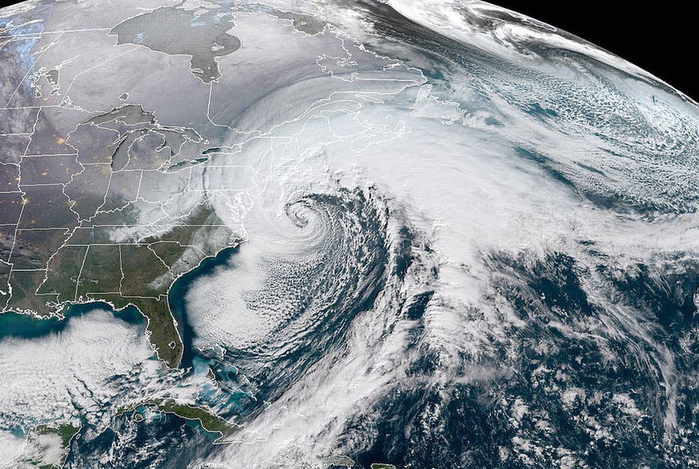 Photo Courtesy of NOAA/National Weather Service, GOES-16, January 2018