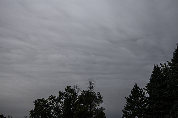 Altostratus at Cedar Falls, Iowa, 9-29-2018, Photo copyright Craig Johnson, Weatherbriefing.com