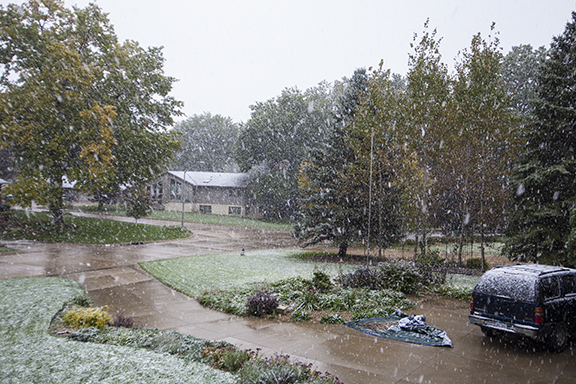 First snow of the season for Cedar Falls, Iowa, Photo by Craig Johnson, CopyRIGHT 2018