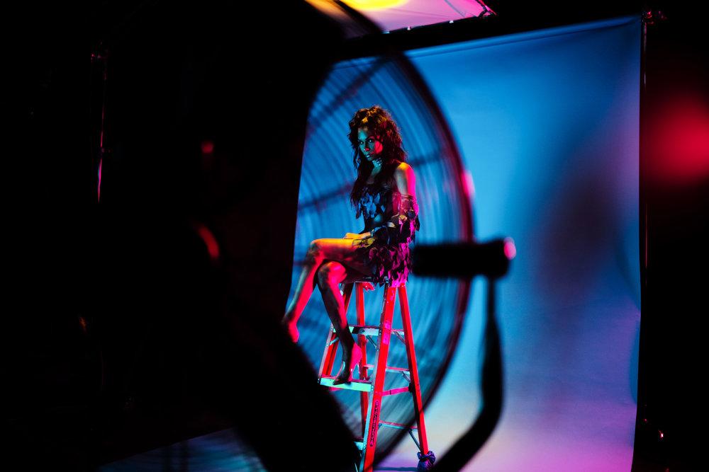 On the set of Leiomy Maldonado's Nike #BETRUE Ad