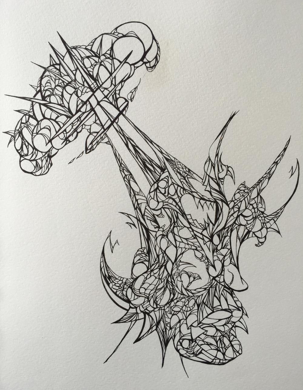 melted mind ink drawings on paper meltedmindesign