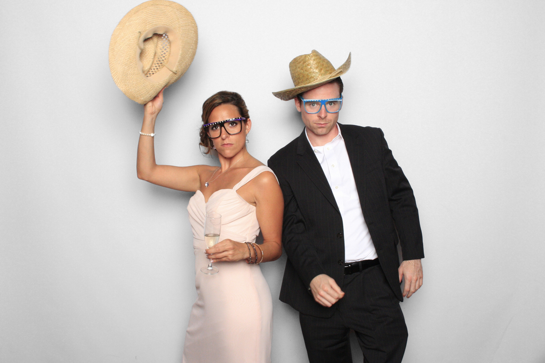 New York Photo Booth Wedding Cowboy Hats Sunglasses