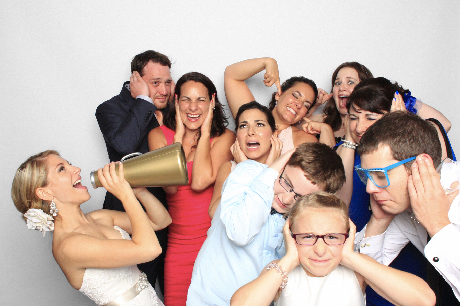 New York Photo Booth Wedding Megaphone Bride