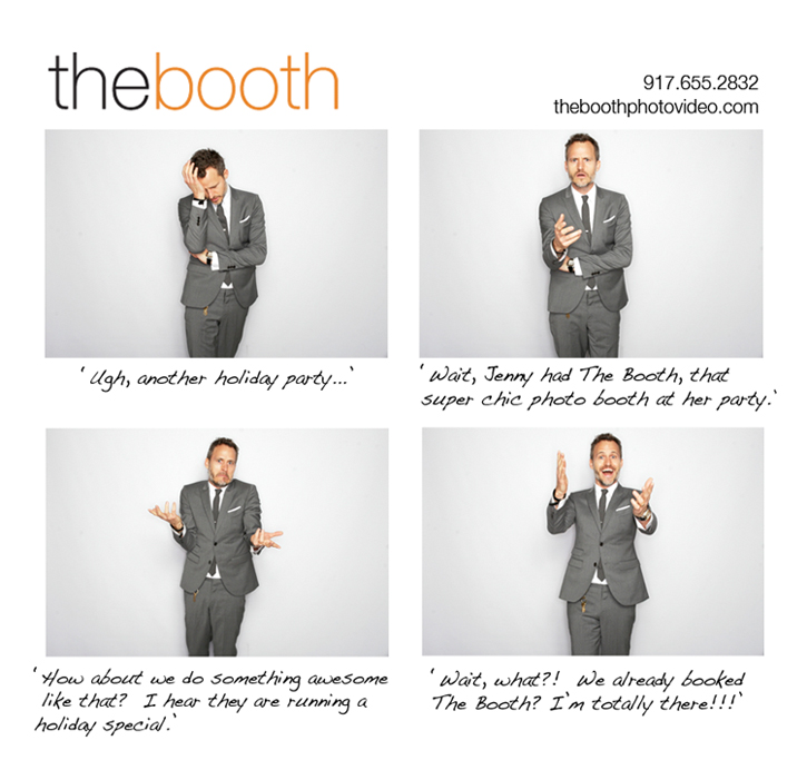 the booth photo holiday party