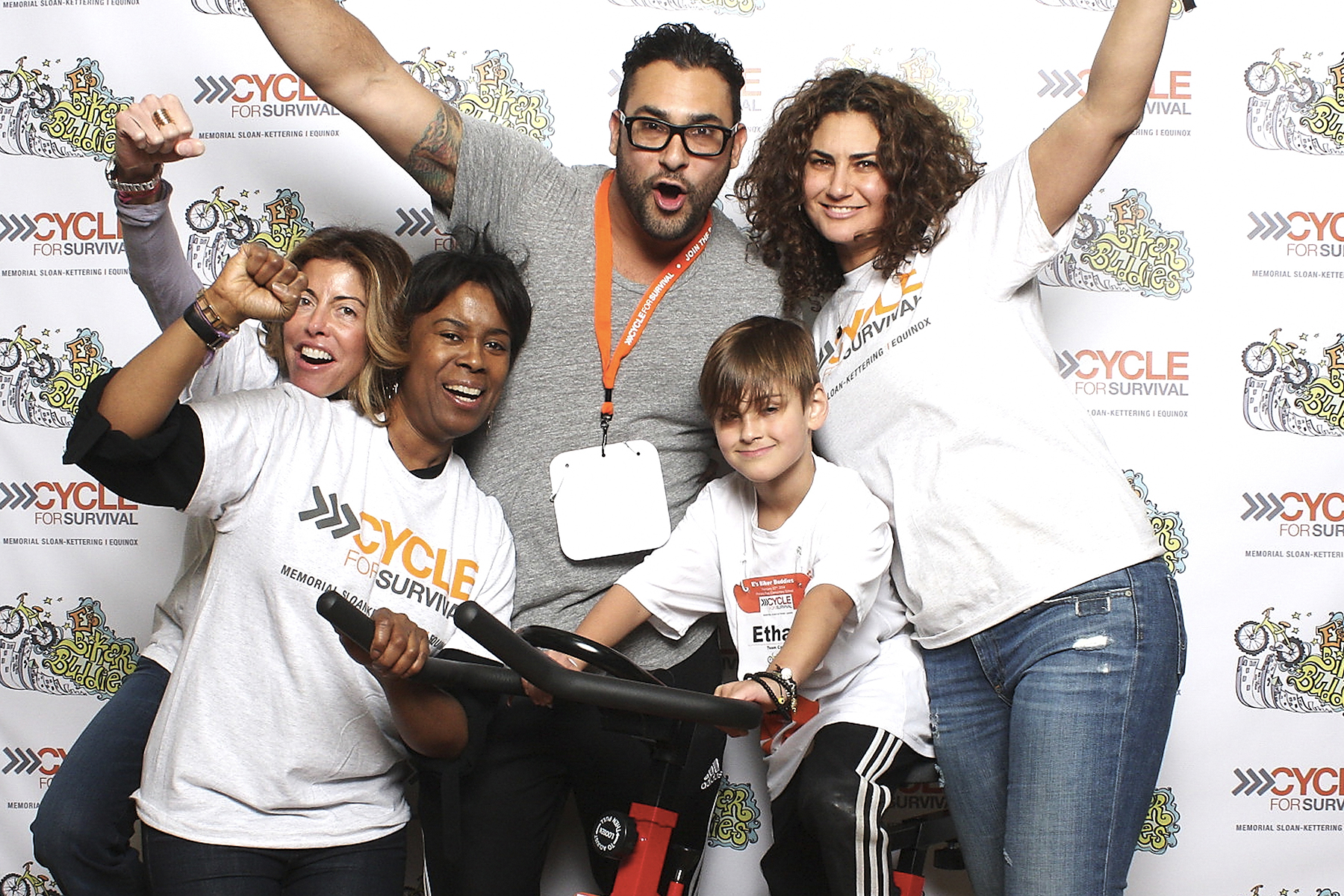 Cycle for Survival photo booth with Memorial Sloan Kettering and Equinox