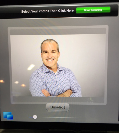 Hey David!  Looking good on our iPad Kiosk social media tool.