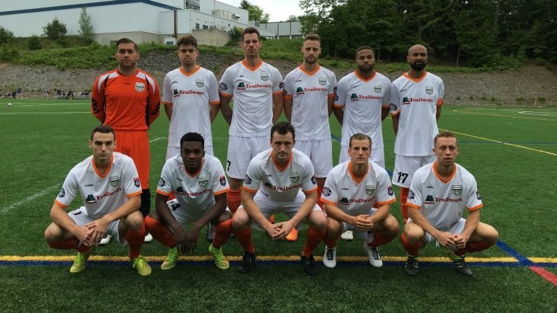 Stockade FC's starting XI in Maine on Saturday. (Credit: Dan Hoffay)