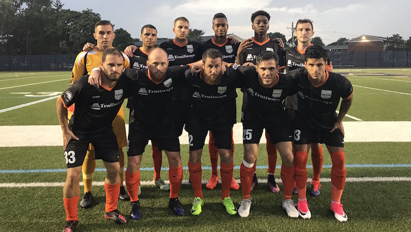 Stockade's Starting XI at Boston City FC. (Photo: Dan Hoffay)