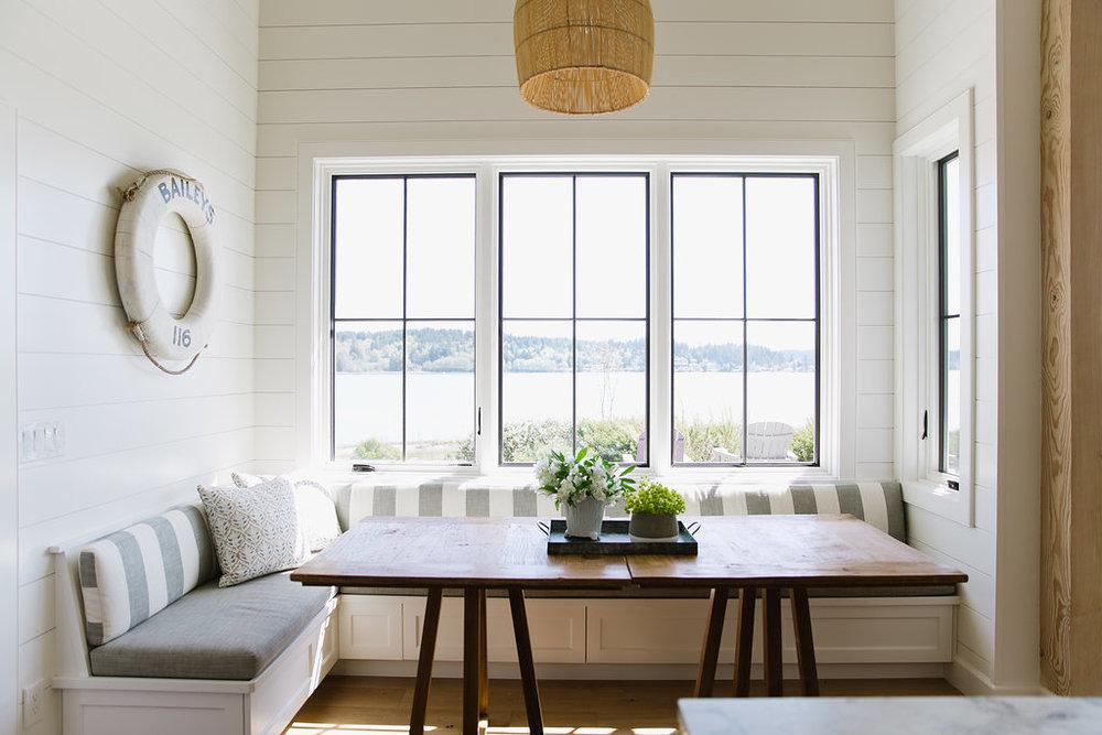 Kitchen Nook Facing View Copy. Karen Painter Interiors