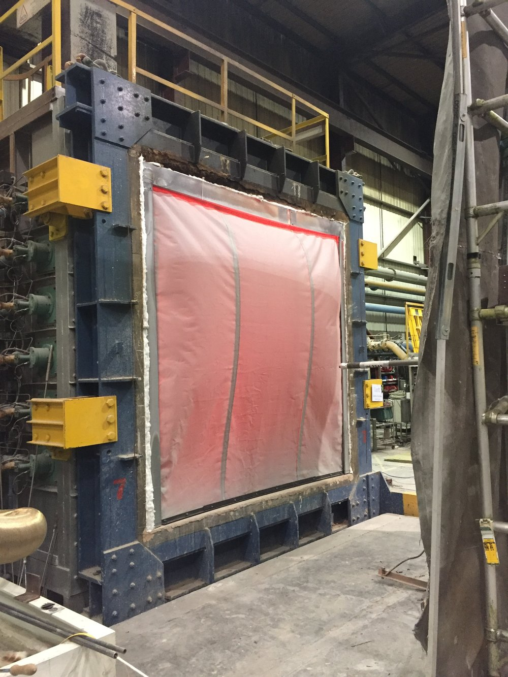 Kent Automatic Fire Curtains (KAFC) being tested to BS EN 1634-1