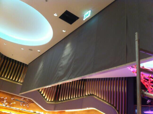 Kent Automatic Smoke Curtain System Installe at Level Shoes, The Dubai Mall