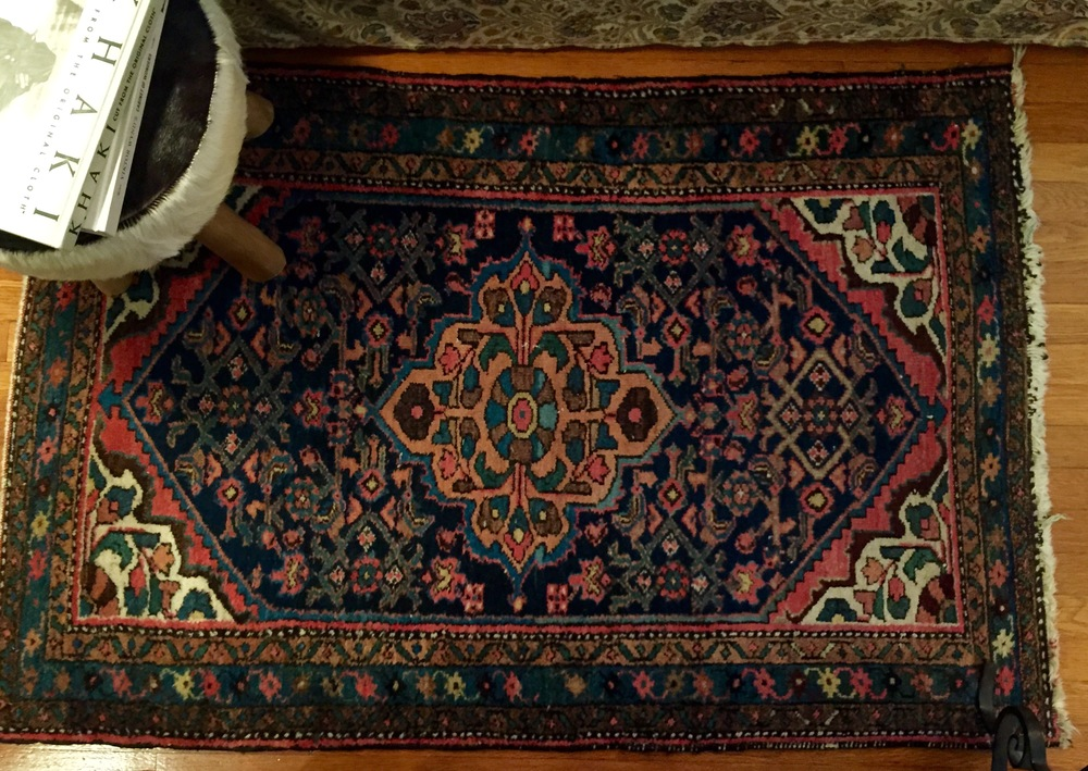 3' x 5' Persian rug purchased at Urban Ore, Berkeley.
