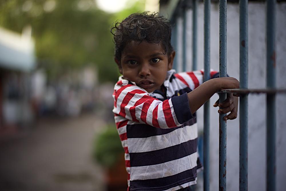 Child on a rail
