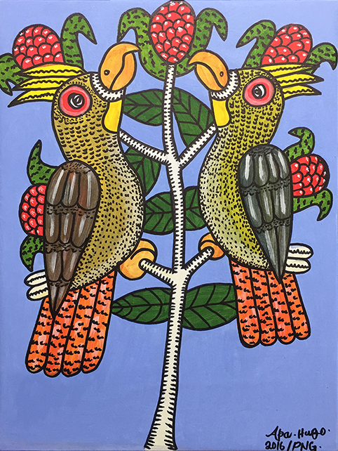 Apa Hugo // 'Untitled; Parrot Pair' // 51x38cm // 2016 // $450