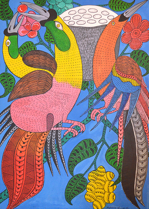 Alphonse Kauage // 'Untitled; Birds of Paradise' // 122x87 cm // $2,250