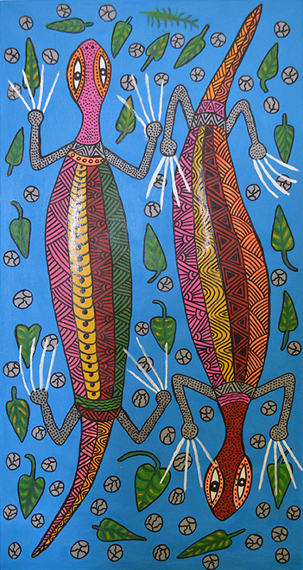 James Kela // 'Untitled; Geckos' // 103x53cm // 2016 // $250 or $400 stretched