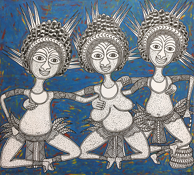 John Bom // 'Untitled; Three Dancers' // 91x100cm // 2016 // $1,200